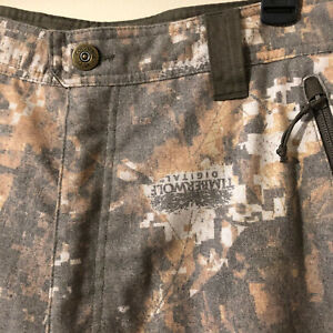Columbia PHG Gallatin Lite Camo Wool Men's Pants Timberwolf Digital Oak Sz XL