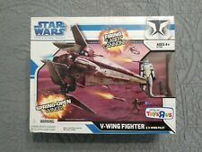 Star Wars Clone Wars V Wing Fighter Toys R Us Exclusive & V Wing Pilot Hasbro