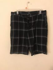 Mens Shorts Size 32 By Hurley Plaid