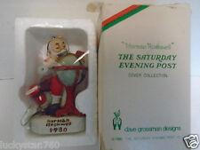 1980 Dave Grossman Norman Rockwell Santa'S Good Boys Christmas Ornament