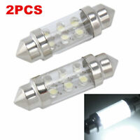 2PCS 6 LED Pure White Car Festoon Interior Dome C5W Light Lamp Bulb 36mm DC 12V