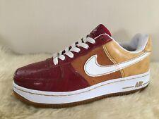 Nike Air Force 1 Mustard/burgundy/white Leather Gum Sole Sz 3.5 315115-617