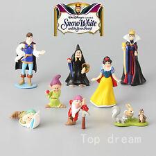 8X Disney Princess Snow White and the Seven Dwarfs Evil Queen Action Figures SET