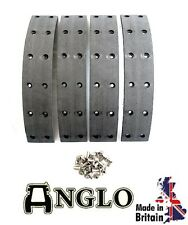 Fordson E27N Major Tractor Brake Drum Lining Kit with Rivets - UK MADE