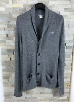 Hollister Mens Size S Grey Cardigan