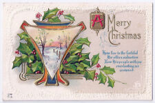 Merry Christmas Antique Embossed Postcard