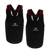 2 Pack Taekwondo Body Protector Sparring Gear Protective Chest Guard Black