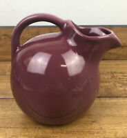 Vintage Mauve Ball Pitcher with Ice Lip