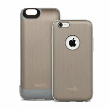 NEW Moshi iGlaze Ion Slide-on Battery Case for iPhone 6/6s Brushed Titanium