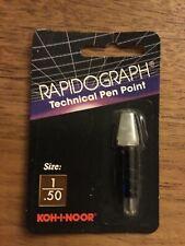 KOH-I-NOOR RAPIDOGRAPH 72D.1 PEN POINT sz 1 .50MM Chartpak
