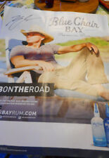 Autographed Kenny Chesney Blue Chain Bay Premium Rum Promo Poster