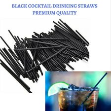 100 Cocktail Drinking Straws - Black - 130 MM Long - Party - Weddings - Straw