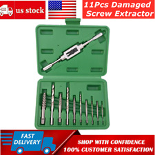 11Pcs Damaged Screw Extractor Easy Out Drill Bit Stud Removal Bolts Fastners Kit