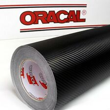 (32,87€/m²) Oracal 975RA 3D Film De Carbone Structure 30cm x 1,52m Noir Versé