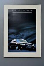 UK Sales Brochure Renault Safrane 1994