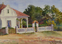 Phil Northam - Signed 20th Century Watercolour, Summer Cottage Study