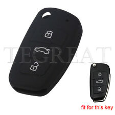 3 Button Silicone Key Cover Keyless Case Fob for Audi A3 A4 A6 A8 TT Q7