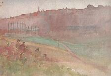 MARCUS ADAMS Watercolour Painting CITY GAS WORKS c1920 IMPRESSIONIST