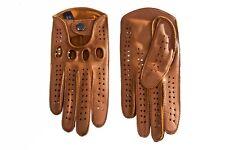 Men's Driving Leather Gloves Camel Brown Deerskin Leather Gloves