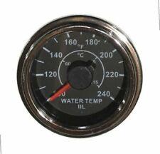 "Temp Gauge for water, 2""/52mm, 100-240F, black/chrome, white LED, 001-T-BC"