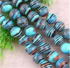 8mm Multicolor Turkey Turquoise Round Gemstone Loose Beads 15''
