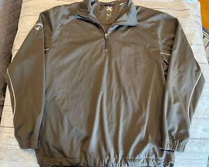Callaway Men Golf X Series Lined Windbreaker Jacket XXXL 1/4 Zip Dark Brown