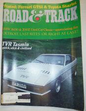 Road & Track Magazine TVR Tasmin & BMW 1600 March 1981 032515R