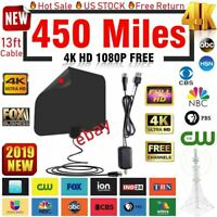 Amplified HD TV Antenna Free Channels Cut Cable Style HDTV 450 mile 4K Fox VHF