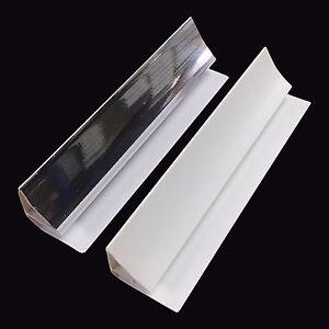 Silver & White 5mm Coving Trim Bathroom Wall Panels PVC Shower Cladding Chrome