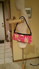 White, Pink, Yellow, Brown Floral Print Small-Sized Shoulder Purse Bag