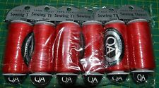 6 x QA RED 100% Polyester Sewing Thread 500m Spools, OVERSTOCK 1/2 Price SPECIAL