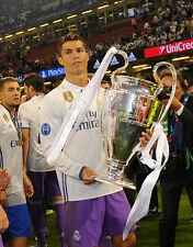 Christiano Ronaldo Champions League Real Madrid Unsigned 8x10 Photo #1
