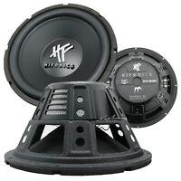 """2x  Hifonics HFX12D4BK 12"""" Dual 4 Ohms Dual Voice Coil Subwoofer 1600W NEW"""