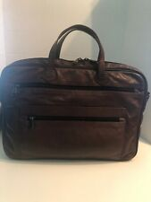 WINN International Soft Leather Laptop Computer BriefCase Messenger Carry/on Bag