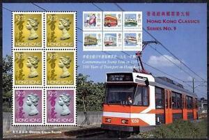 HONG KONG  1994  RAIL TRANSPORT  S/S   TRAM, SUBWAY MNH