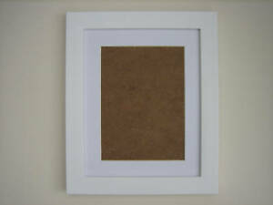 White  7x9 Photo  Picture Frame  Mount 4.5x6.5 Hang