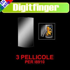 PELLICOLA PROTETTIVA PER SAMSUNG i8910 OMNIA HD 3 PEZZI