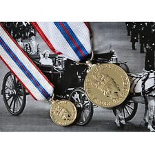 Queen Elizabeth II SILVER JUBILEE MEDAL SET British Made Full Size AND Miniature
