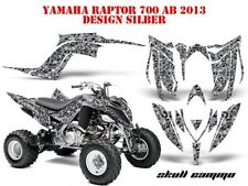 AMR RACING DEKOR GRAPHIC KIT ATV YAMAHA RAPTOR 125/250/350/660/700 SKULL CAMO B