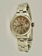 ROLEX LADY AUTOMATIC OYSTER WATCH WHITE GOLD BEZEL