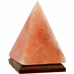 Large Himalayan Crystal Rock Pink Salt Lamp Healing Ionizing Pyramid Lamp