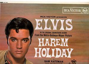 """ELVIS PRESLEY.HAREM HOLIDAY.UK ORIG """"1B/1B"""" (1966) """"BLACK/RED SPOT"""" LP.EX+"""