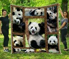Panda Collection Fleece Blanket 50x60x80 Made In US