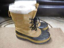 Men's Warm Light Brown SOREL CARIBOU Snow Winter Boots Sz 10 US