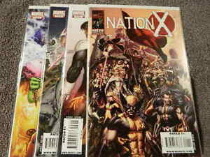 2010 MARVEL Comics NATION X #1-4 Complete Limited Series Set - X-MEN - VF/NM
