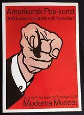 Roy Lichtenstein - Amerikansk Pop-Konst 1963 Poster Pop Art