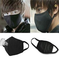 2pcs BLACK Unisex Men Women Cycling Anti-Dust Cotton Mouth Face Mask Respirator