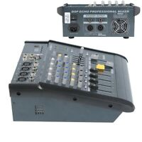 4 Channel Audio Mixer Mixing Console Power Amplifier Function 180W RMS 16DSP