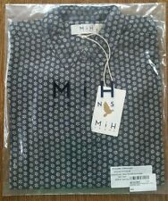 NWT MIH JEANS MIH OVERSIZED SHIRT IN INDIGO WOODBLOCK FLOWER SMALL S1411206