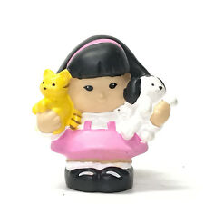 Fisher-Price Little People SONYA LEE Holding Dog & Cat Friendship Doll Figure